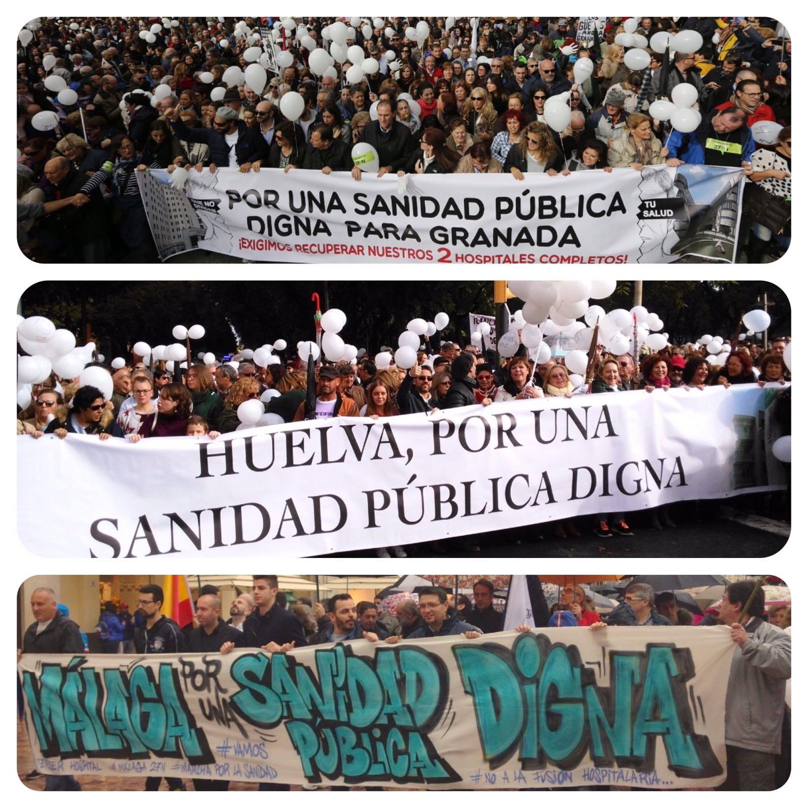 Andalucía manifestaciones 27-11-27